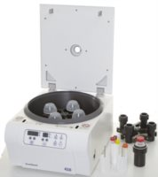 We offer both a swing-out rotor as well as a angle rotor for our low-speed centrifuges ScanSpeed 416